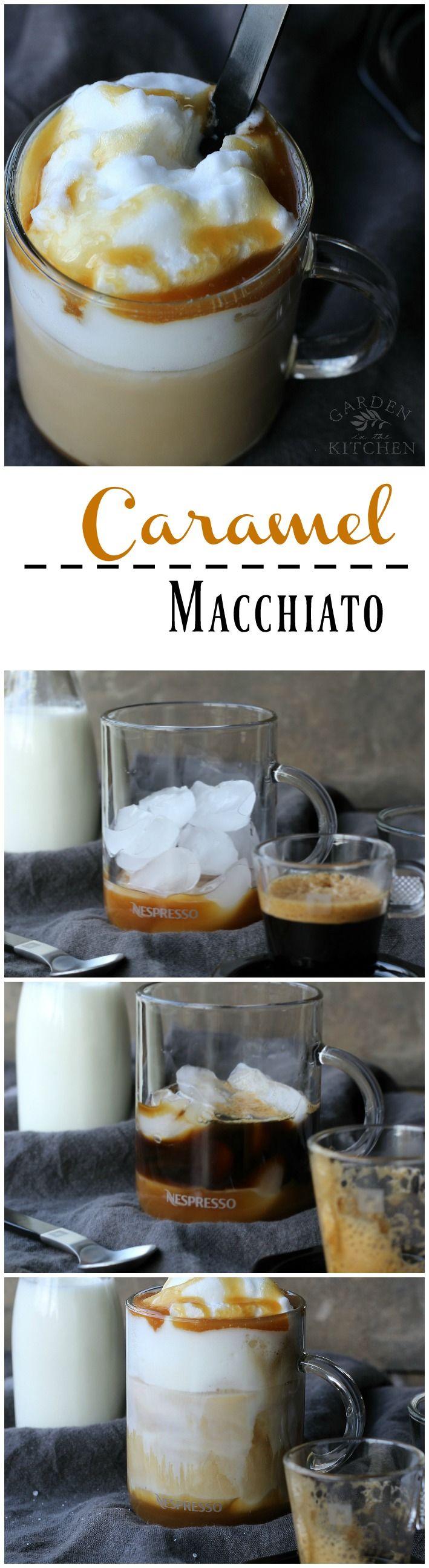 Iced Caramel Macchiato   gardeninthekitchen.com