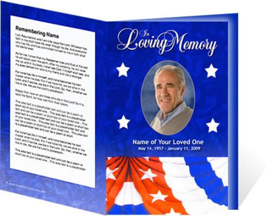 64 Best Images About MEMORIAL LEGACY PROGRAM TEMPLATES On Pinterest Program Template