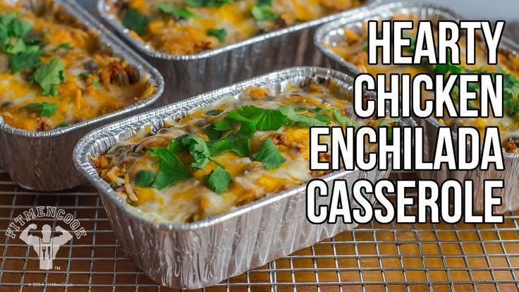 Healthy & Hearty Chicken Enchilada Casserole / Cazuela de Enchilada de P...