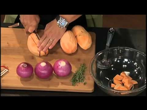 SIMPLY MING : OVEN-ROASTING VEGETABLES-put into a preheated cookie sheet.