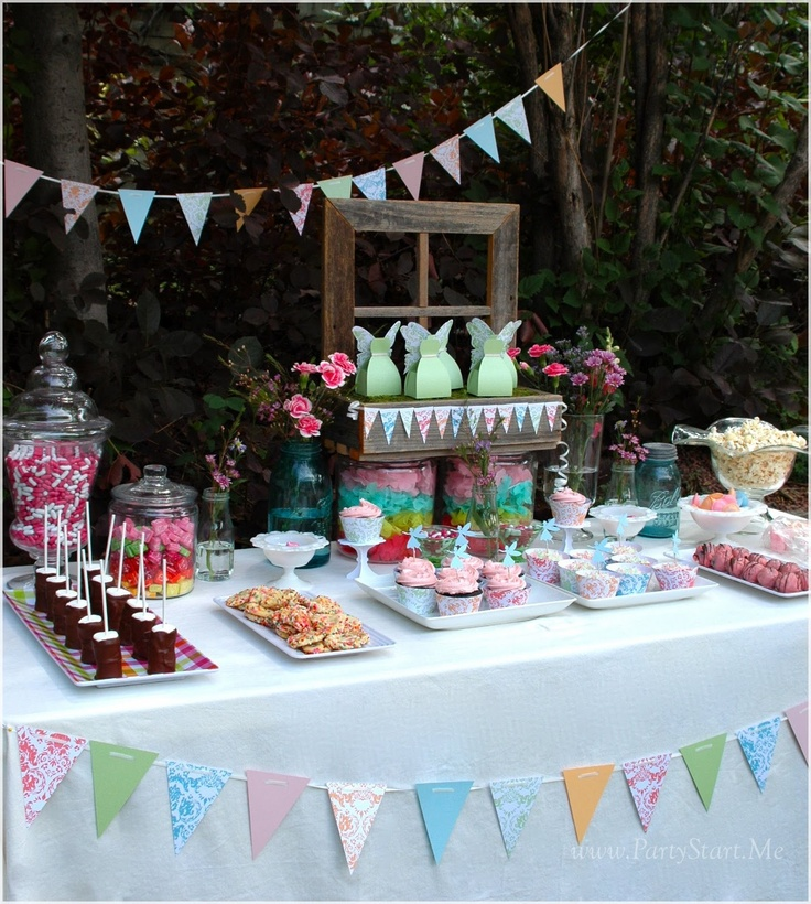 Time to set the fairy table--here's some cute fairy party ideas to consider for your garden fairy party.