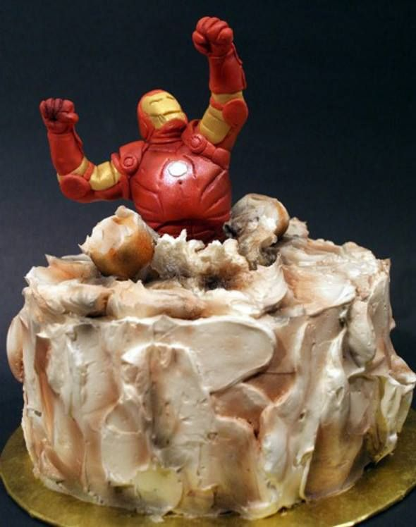 Wouldn't be the first time I popped out of a giant cake! #ironman