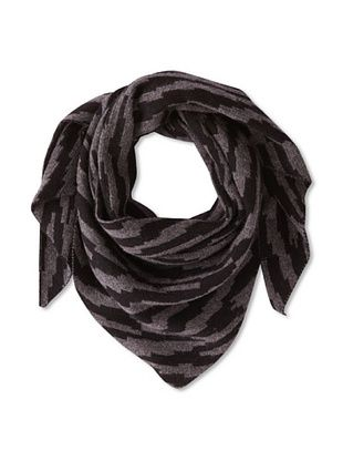 66% OFF M.Patmos Women's Ikat Scarf, Black/Charcoal
