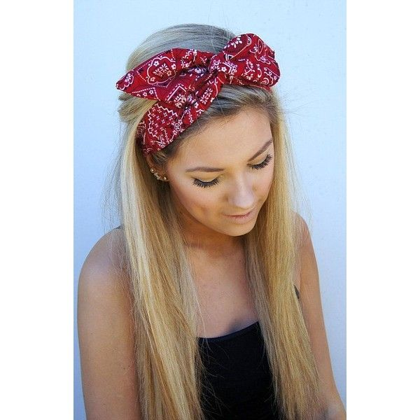 ROCKABILLY Headband Wired Dolly Bow Bandana PIN UP ❤ liked on Polyvore featuring accessories, hair accessories, hair, bandana bow headband, rockabilly headband, flexible wire headbands, bandana headband and bow headbands