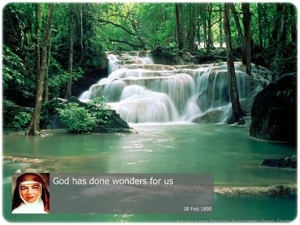 God has done wonders for us