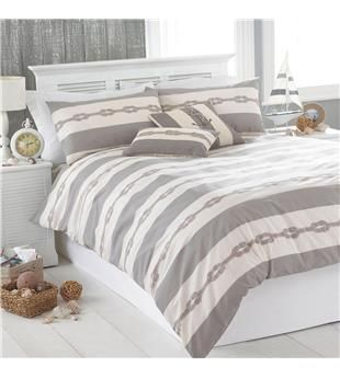 Riva Home Reef Nautical Duvet Cover Set. Home decor by Textile Warehouse