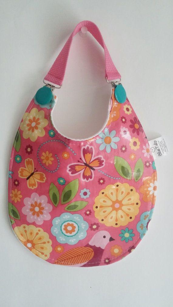 Baby Bib, Laminated Bib, Waterproof Bib, Baby Girl Bib, Flower Bib, Plastic Bib, Vinyl Bib, Baby Shower Gift, Floral Baby Bib,