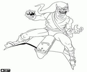 The super villain Green Goblin coloring page | Duende ...