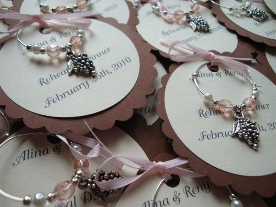 Wine Charm Favors For The Love Of Pinterest Wedding And