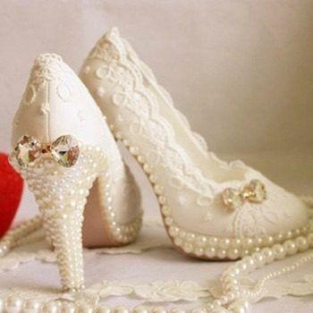 sapato feminino cristal e pérola casamento e festas de luxo