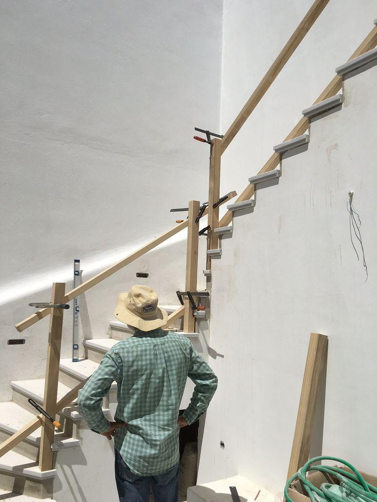 Στη Νάουσα της Πάρου | Κατασκευή κουπαστής σκάλας | Construction handrail ladder | Kritikoswood | Accoya