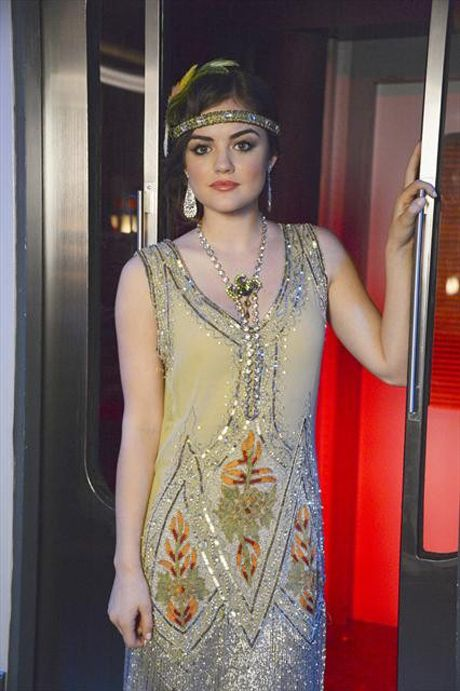 Aria Montgomery as Daisy from the Great Gatsby for Halloween