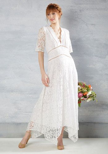 Flowing to the Chapel Dress in White $250.00 AT vintagedancer.com
