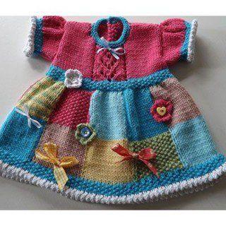 Kız Bebeklere Örgü Elbise Modelleri 54