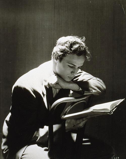 Marlon Brando reading. Do I even need a reason?