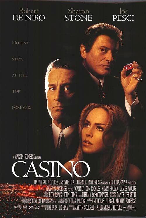 MARTIN SCORSESE - 1995  Dans les années 70, sa chance insolente et son flair infaillible valent à Sam «Ace» Rothstein l'honneur d'être catapulté à la tête d'un luxueux casino de Las Vegas, le «Tangiers». L'établissement sert, en réalité, de paravent à la mafia. Avec l'aide de son ami d'enfance devenu son homme de main, Sam fait du «Tangiers» l'un des casinos les plus rentables de la ville. Il s'éprend bientôt d'une belle flambeuse, Ginger McKenna, qu'il finit par épouser...