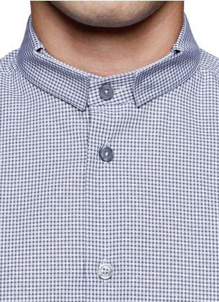 GIVENCHY - Micro-check officer collar cotton shirt | Dress Shirts Shirts | Menswear | Lane Crawford