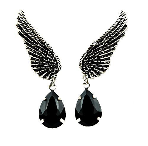Wings w/ Black Stone Gothic Earrings Cosplay