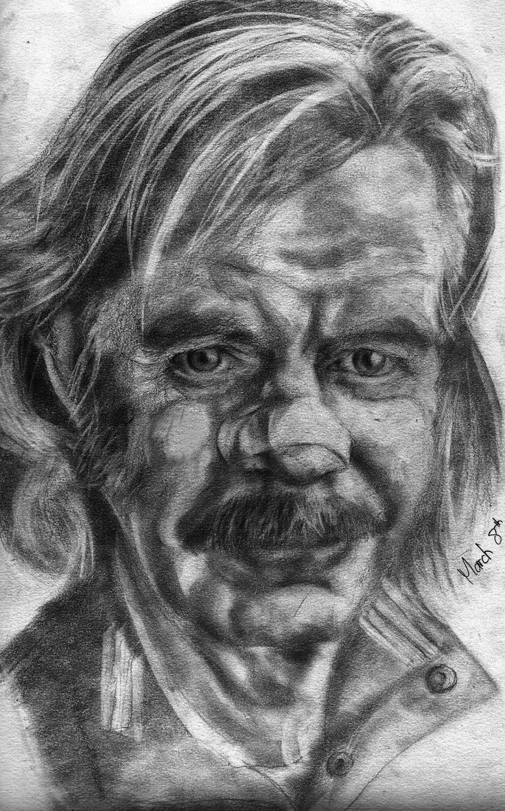 William H Macy Pencil On Paper A3