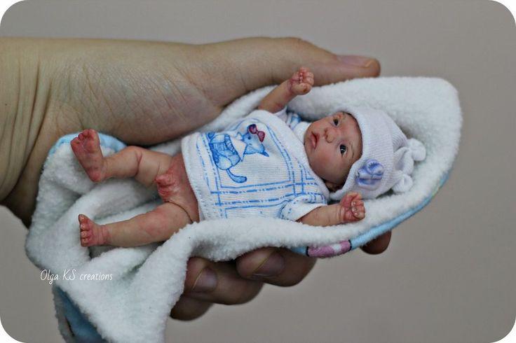 One Of A Kind Esculpido menino bebê recém-nascido Em Miniatura 4.3 Polegadas Por Olga Ks | Bonecas e ursinhos, Bonecas, Bonecas artísticas - exemplares únicos (OOAK) | eBay!