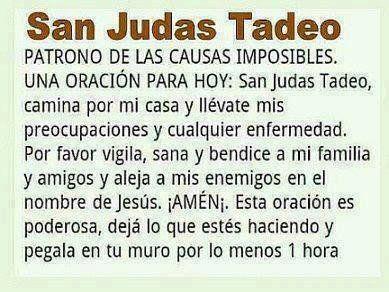 Oración a San Judas Tadeo -