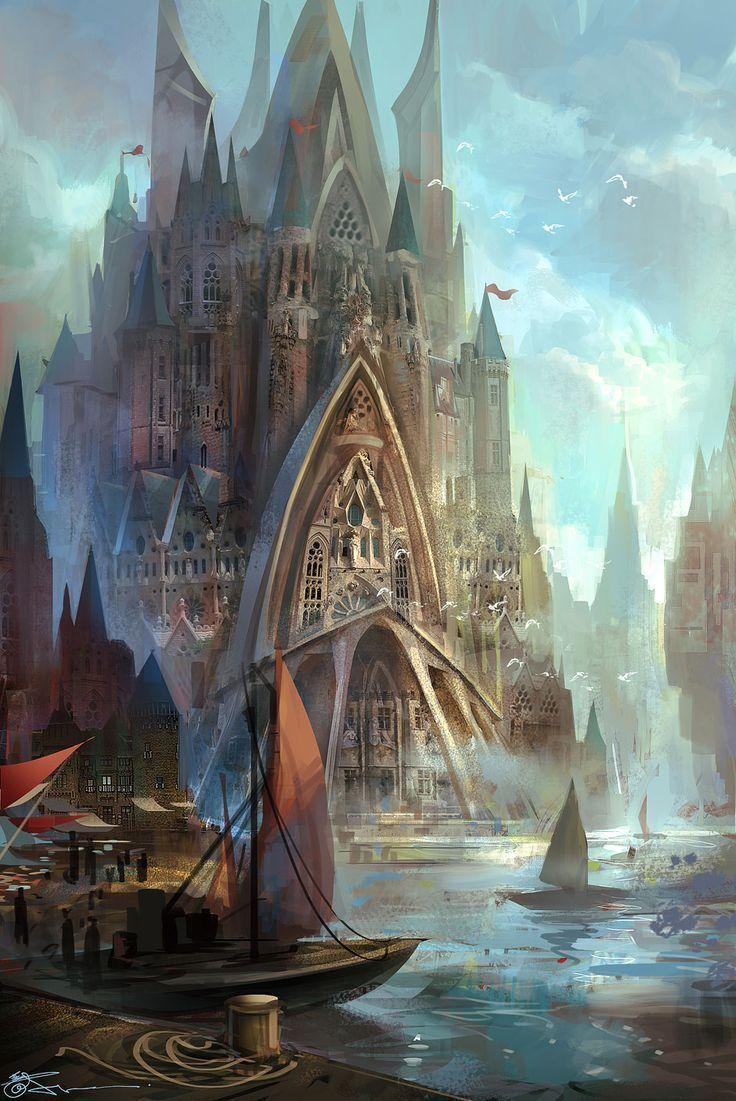 Best 25+ Fantasy castl...