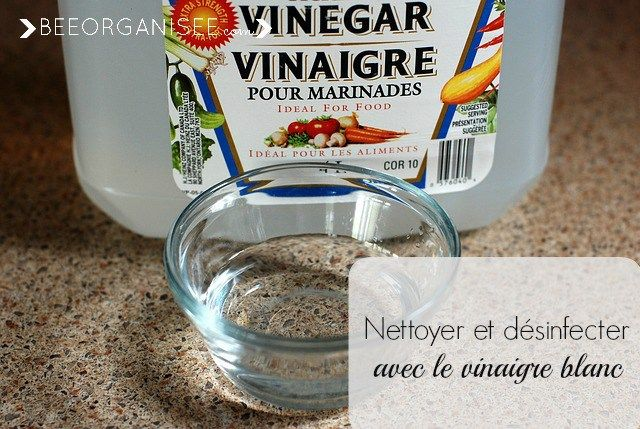 Le vinaigre blanc possède un PH très acide ce qui signifie qu'il est naturellementantiseptique,antibactérien etantimicrobien. Il est donc idéal pour nettoyer