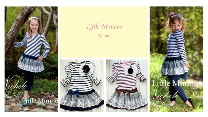 Little Minons' Emma Style Dress - 2 to 6 years | Available on Diggit $25