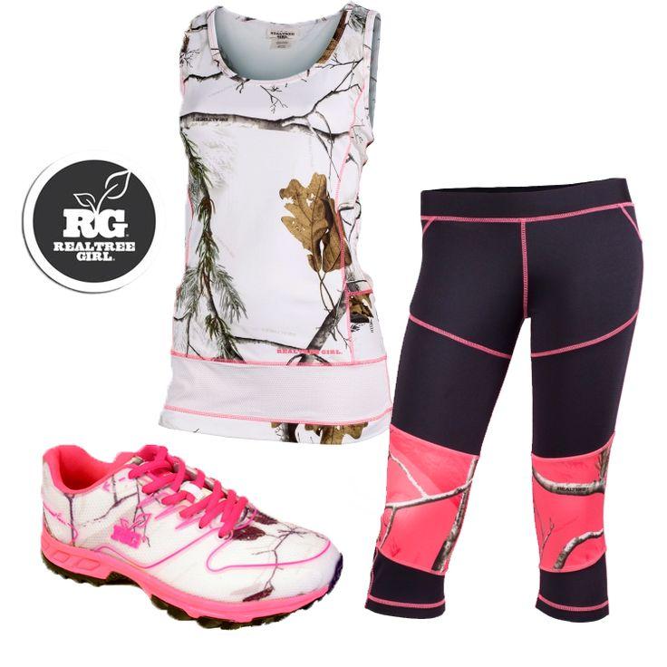#New Realtree Girl Camo Workout Clothing  #RealtreeGirl
