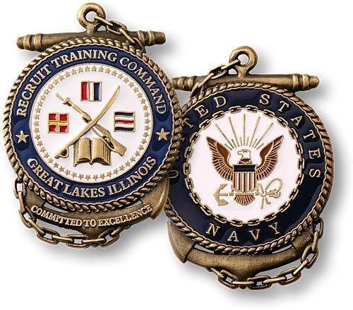 U.S. Navy ~ RTC ~ Recruit Training Command ~ Great Lakes ~ Challenge Coin | Jewelry & Watches, Other Jewelry & Watches | eBay!