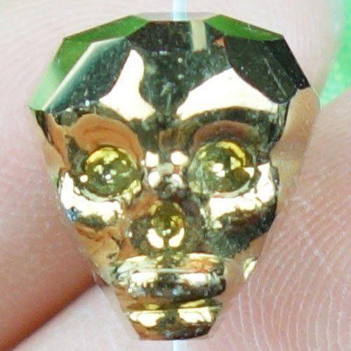 Titanium-Crystal-Agate-Druzy-Quartz-Geode-Stone-Skull-Pendant-Bead-X24643