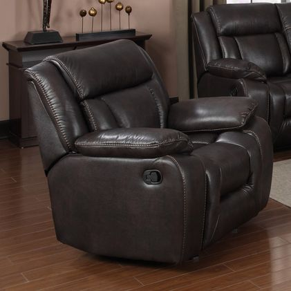 Generation Trade Hudson Collection Glider Rocker Recliner with Air Leather 660342