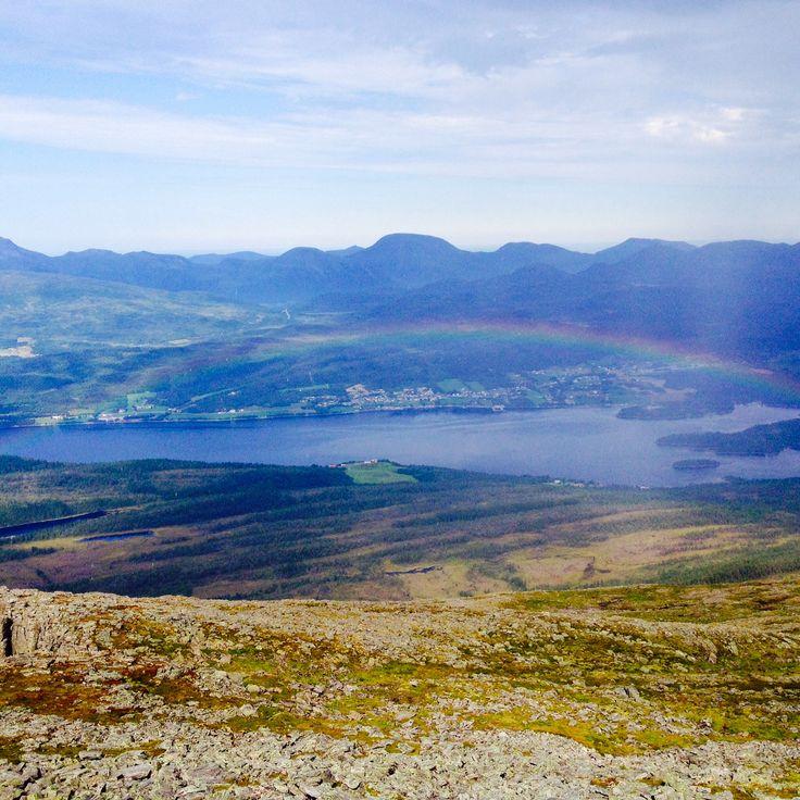 Regnbue over Kleive. Romsdal, Norway