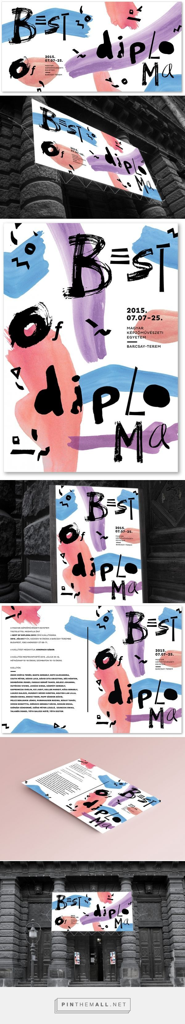 Best of Diploma 2015 Fine Arts Event Branding by Lili Thury | Fivestar Branding – Design and Branding Agency & Inspiration Gallery