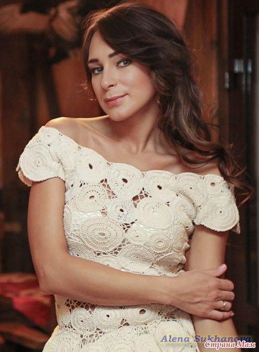 *Свадебное платье крючком. Фото с реальной свадьбы
