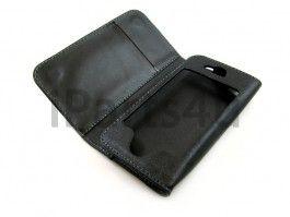 Boek Case iPhone 4S & 4 Zwart Leder