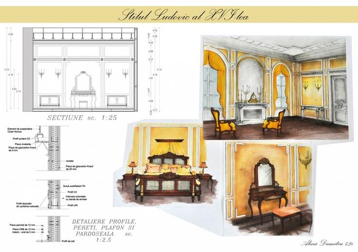 Amenajare camera in Stil Ludovic al XVI-lea