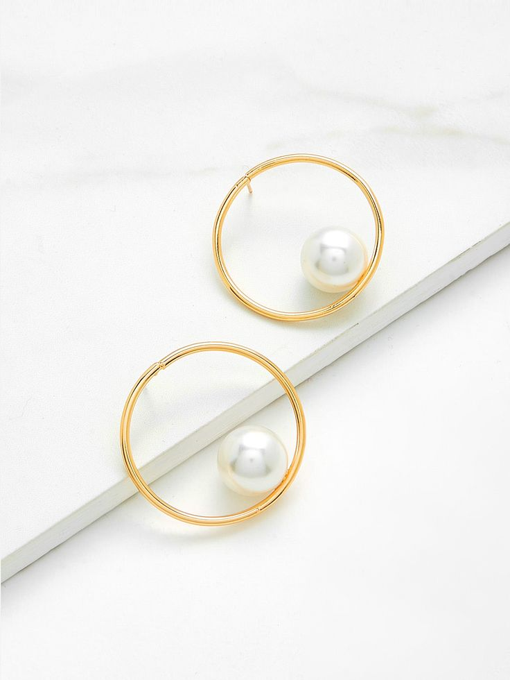 Shop Open Ring Hoop Earrings With Faux Pearl online. SheIn offers Open Ring Hoop Earrings With Faux Pearl & more to fit your fashionable needs.