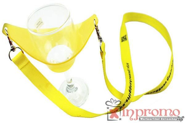 Weinglas Lanyards Schlüsselbänder mit Ihrem Logo bedruckt - Werbeartikel Grosshandel | Werbeartikel bedrucken | Grünstige Werbemittel
