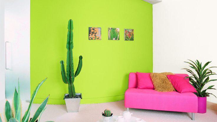 17 mejores ideas sobre pinturas verde lima en pinterest - Pintura pared verde ...