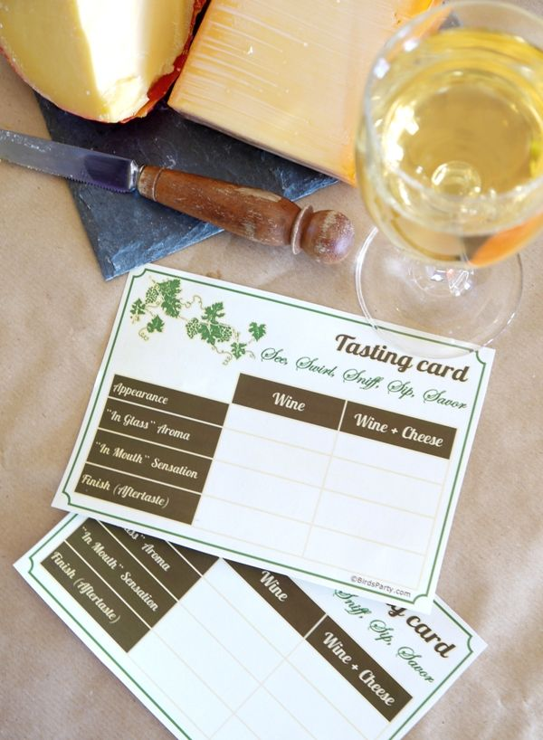Party Printables | Party Ideas | Party Planning | Party Crafts | Party Recipes | BLOG Bird's Party: Cheese and Wine Party Ideas + FREE Printables!