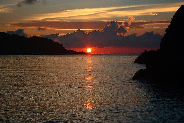 Sunset from Nevis Island