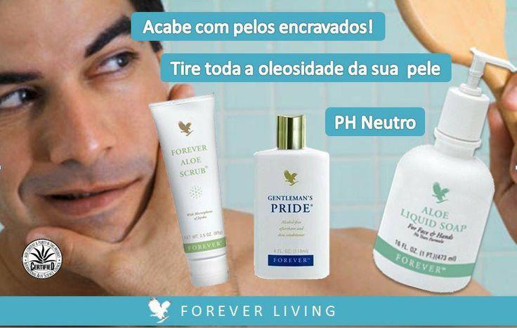Voor heren is de vloeibare zeep, de scrub en de Gentlemens Pride een prima verzorging voor het gezicht.  webshop: 310002038793.fbo.foreverliving.com