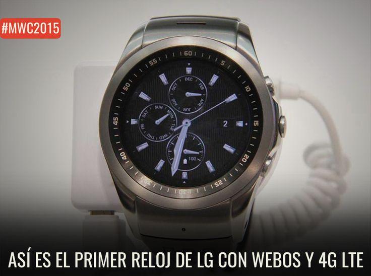 Miramos de cerca el nuevo reloj de #LG con 4G LTE (galería) http://www.enter.co/eventos/mwc/2015/asi-es-el-primer-reloj-de-lg-con-webos-y-4g-lte/