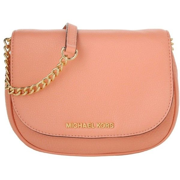Michael Kors Shoulder Bags, MICHAEL Bedford SM Crossbody Peach Handbag found on Polyvore featuring bags, handbags, shoulder bags, rose, purse crossbody, handbags crossbody, shopping tote, michael kors purses and purse tote