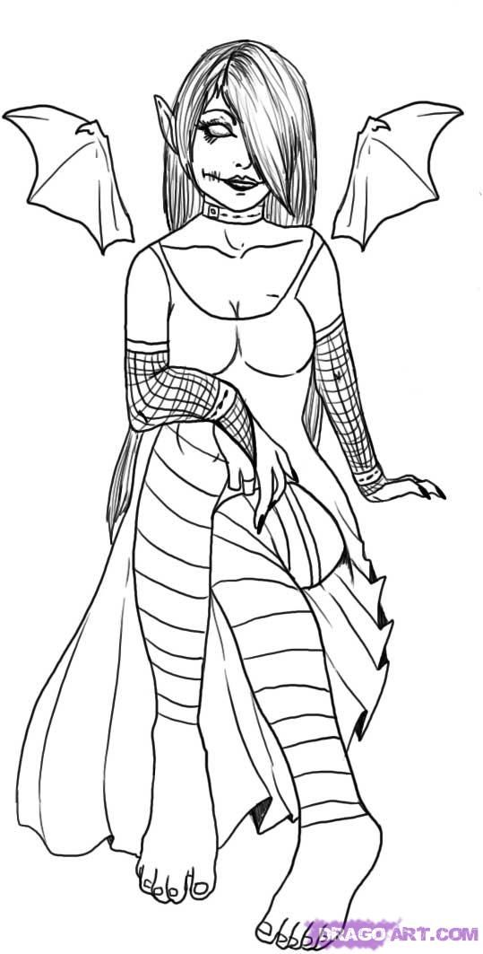 gothic art coloring pages - photo#15