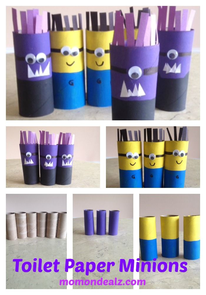 Dave the Minion: Toilet paper minions craft