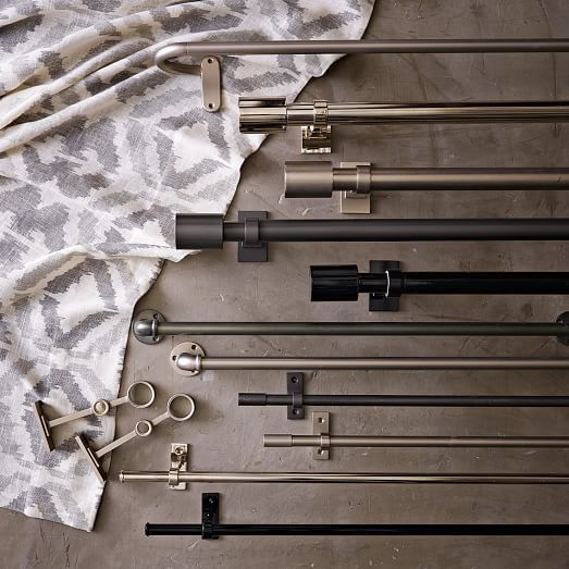 Oversized Adjustable Metal Double Rod Window Pinterest Industrial Window And Room