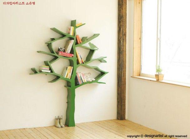 Kinderkamer | Boom-boekenkast. Door lousje71