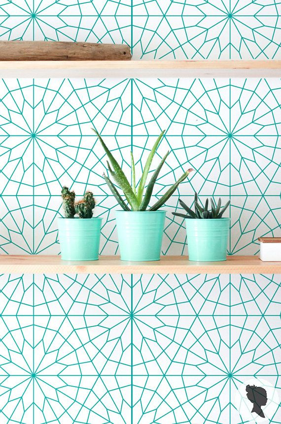 Geometric Pattern Wall Mural, Removable Self Adhesive Wallpaper - Z011
